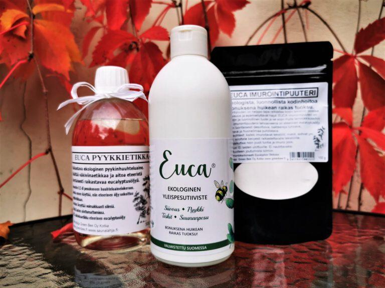 Euca ekopesuaine imurointipuuteri pyykkietikka